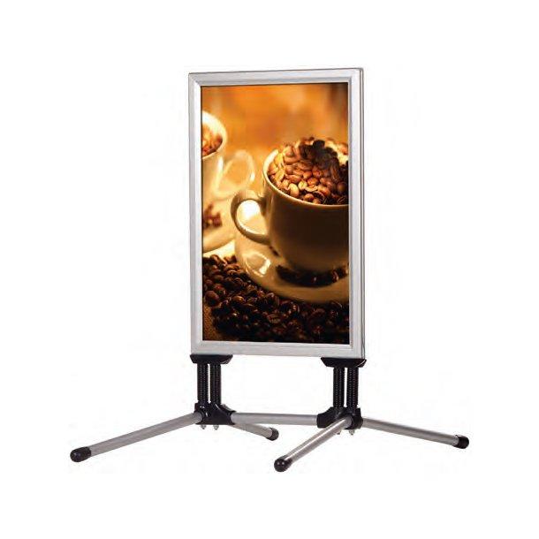 Gadeskilt SwingPro® 70 x 100 cm Sølvelokseret